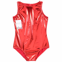 $enCountryForm.capitalKeyWord Canada - Speerise Kids Metallic Shiny Leotard Sleeveless Zipper Back Bodysuit Spandex Lycra Leotard Ballet Gymnastic Costume For Child