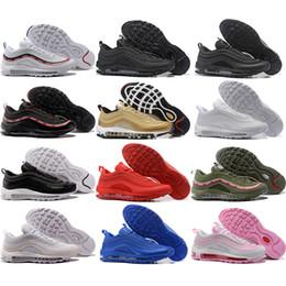 b696819e402 97 OG Tripel White Metallic Gold Silver Bullet AAA Best Quality 97S WHITE  3M Premium Men Women Running Shoes Sneakers Online For Sale