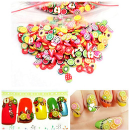 Nail fimo online shopping - New Popular Fruits Animals Flowers D Nail Stickers Women Girls Colorful Cartoon Nail Decorations Fimo Clay Series