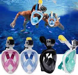 2019 masque de plongée sous-marine tuba set entraînement à la natation plongée sous-marine masque de plongée avec masque complet snorkeling anti-brouillard aucune caméra 6 couleurs en Solde