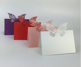table place settings Australia - Laser Cut Butterfly Table Name Place Card Setting Wedding Party Supplies
