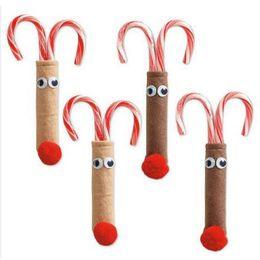 Chinese  2 Pcs Xmas Reindeer Table Decor Santa Suit Silverware Cutlery Holder Pockets Bag Christmas Decor manufacturers