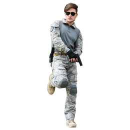 China Tactical Suit Army Pants Jacket with Kneepad Elbow Pads Special Forces Uniform Hunter Camouflage Combat Sets supplier camouflage combat suit suppliers