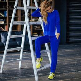 Wholesale sportswear tracksuit costume online – oversize New Autumn Winter Women Cotton Tracksuit Piece Set Clothing Solid Sportswear Suit Woman Irregular Hoodies Set Costumes