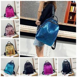 6 colors Bling Magic Sequin Backpack Fashion Bags School Shoulder Bag cute  girl travel outdoor backpack MMA403 30pcs 3eb62ba123e19