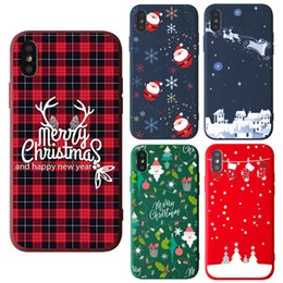 Iphone Case Yellow Purple Australia - Phone Case For iPhone Xr 8 7 6 6s Plus X Xs Max Christmas Cute Cartoon Santa Claus Custom Soft TPU Cover Cases