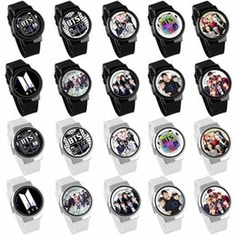 New Watch Touch Screen Australia - 2018 New Bts Bangtan Boys Watch Waterproof Led Touch Screen Wrist Watches