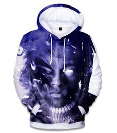 sweatshirt character 3d UK - XXXTENTACION Rapper R.I.P 3D Printed Pullover Hoodies hooded Sweatshirts for Women men X03