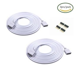 3528 Rgb Connector NZ - 2PCS 5M 16.4ft 4 Color RGB Extension Cable LED Strip Connector Extension Cable Cord Wire 4 Pin LED Connector for SMD 5050 3528