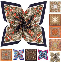 Discount cream wraps - 77 Styles Designer Scarf Summer Twill Silk Scarf for Women Scarves Wraps Bandana Hair Scarf Print Paisley Floral Women S