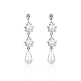 f8eeefe54a Shop Vintage Dangling Pearl Drop Earrings UK   Vintage Dangling ...