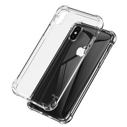 Edge Gel NZ - Shockproof Transparent Phone Case for iPhone X XS XS MAX XR 8 7 6 Plus Soft Gel TPU Case Clear Back Cover for Samsung S9 S8 S7 Edge Note 9 8