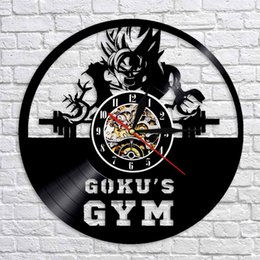 Ball clocks online shopping - diy gift for clock change Goku s GYM Dragon Ball Z Goku Art Vinyl Wall Clock Interieur Handgemaakte CD Art Klok Relogio