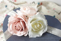 Rose Road wedding online shopping - Decorative CM DIY Artificial Rose Flower Heads Silk Decorative Flower Supermarket Background DIY Road Led Wedding Wall Flower Bouquet
