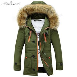 Wholesale fitted hoodies mens online – oversize 2016 Winter Jackets Mens Thickness Warm Fur Coat Slim Fit Hoodies Overcoat Casual Parka Veste Homme Jaqueta Masculina