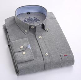 $enCountryForm.capitalKeyWord Australia - Men Shirt Solid Long Sleeve Oxford Brand Business Casual Oxford Slim Fit Shirts Mens Solid Collar Dress Shirt Social 4xl