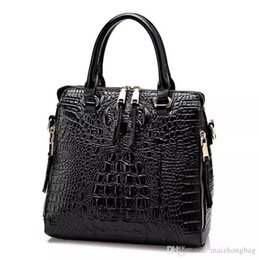 free tote bag patterns 2019 - 2016 New Fashion Women Lash Package PU Leather Bags Crocodile Pattern Handbag Shoulder Crossbody Bag Clutch Bag Free Shi