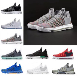Discount color kd shoes - Top quality 2018 Zoom KD 10 Multi-Color Oreo Numbers BHM Igloo Men Basketball Shoes KD 10 X Elite Mid Kevin Durant Sport