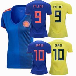 4362233654c 2018 Colombia ARIAS SANCHEZ CUADRADO FALCAO JAMES Women Soccer Jersey 18 19  home away football Female shirt S-XL