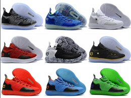 reputable site 1d7d7 e85fc Remise KD 11 Basketball Hommes Chaussures EP Oreo Ice Blue Hommes Athlétisme  Sport Chaussure Kevin Durant 11s En Plein Air Baskets Baskets Bottes  Footwears
