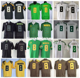 oregon marcus mariota jersey NZ - Wholesale 8 Marcus Mariota Cheap College Oregon Ducks Color Green White Black Yellow football Jerseys