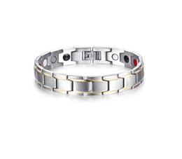 Hematite Jewelry Sets NZ - Drop shipping brand new top quality men's stainless steel bracelet magnets germanium bracelets hematite fashion jewelry factory supplier 004