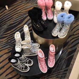 $enCountryForm.capitalKeyWord NZ - pink white blue Women Flats Warm Snow Boots Shinny Glitter Flat heel Real leather Fur Winter Booties