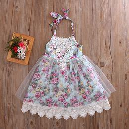 $enCountryForm.capitalKeyWord NZ - Summer infant baby girl kids girls flower lace Tutu dress sleeveless sundress princess party pageant flower dresses cute girls clothes 6M-6Y