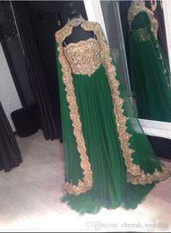 $enCountryForm.capitalKeyWord NZ - Dubai Caftan Evening Dresses With Caoe 2017 Party Long Straps With Strapless Saudi Arabian Arabic kaftan Celebrity Formal Gown