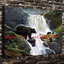 $enCountryForm.capitalKeyWord NZ - Natural Scenery Forest Animals Bear,Canvas Prints Wall Art Oil Painting Home Decor 16x24 12x18 (Unframed Framed)