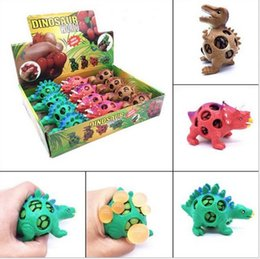 $enCountryForm.capitalKeyWord NZ - Funny Squishy Dinosaur Grape Ball Vent Mesh Ball Squeeze Decompression Children's Toys Beads Dinosaur Autism Mood Squeeze Ball toys Gifts