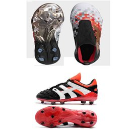 High Ankle Football Boots Predator Accelerator Electricity 18+x Pogba FG DB Kids MENS Soccer Shoes PureControl Purechaos Soccer Cleats