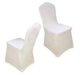 $enCountryForm.capitalKeyWord UK - Universal White spandex Wedding Party chair covers White spandex lycra chair cover for Wedding Party Banquet