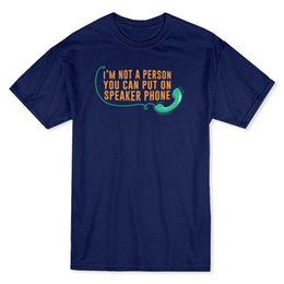 """Latest Speakers UK - """"I'm Not A Person You Can Put on Speaker Phone"""" Quote Men's T-shirt 2018 Latest Men T Shirt Fashion Gray Style"""