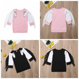 Girls Tassel Shirt Australia - Baby unicorn tassel T-shirts spring autumn long sleeve sweatshirt children girls boys cartoon tops Boutique Tees kids Clothing MMA1000
