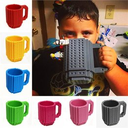 Discount block puzzle toy - 350ml DIY Block Puzzle Mug Drinkware Building Blocks Mugs 10 Colors Brick Mug 1Piece Build-On Brick Creative Mug Coffee