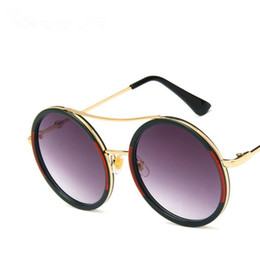 Wholesale NEW Women Men Brand Designer Sunglasses Round Frame Sun Glasses Retro Eyeglasses Anti UV Spectacles A SUN Glasses
