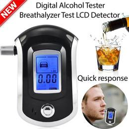 Alcoholímetro profesional del aliento del aliento de Digitaces del coche con el LCD Dispaly con 5 boquillas para el alcoholímetro del estacionamiento del alcohol del coche policía en venta