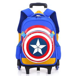 $enCountryForm.capitalKeyWord NZ - Trolley Children School Bags Mochilas Kids Backpacks With Wheel Trolley Luggage For Boys backpack Escolar Backbag Schoolbag