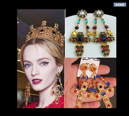 $enCountryForm.capitalKeyWord Australia - Exaggerated court cross earrings big color luxury jewelry show jewelry