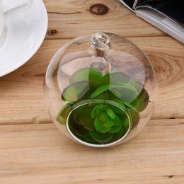 Nuovo 8 centimetri terrario di vetro rotondo 1 buco fiore Stand pianta in vaso waterdrop appeso idroponica per auto Home Office decorazione di nozze