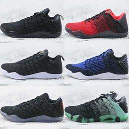 Cheap brand Men Kobe 11 EM Mamba Day Basketball Shoes Kobe XI Low Elite  Athletic Sports Sneakers Boots Black Gold inexpensive kobe elite low cut 008e0c837