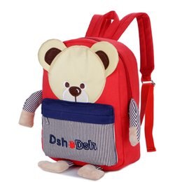 Chinese  Carton Cute Bear School Bag For Girls Boys School Backpack Toddler Backpack Kindergarten Kids Schoolbags Mini Bear Kids manufacturers