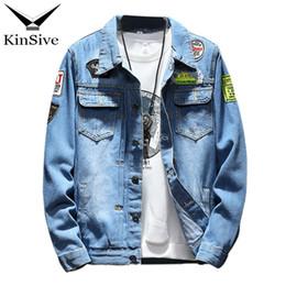 f31296c20a7 Mens Denim Jacket S-4XL 5XL Plus Size Casual Bomber Jacket Men High Quality  Man Vintage Jean Streetwear Chaqueta Hombre