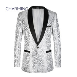 China Men's suits for wedding High quality jacquard fabric Shawl collar Formal wear for mens designer suits Men's 2 piece suits (Jacket + Pants) suppliers