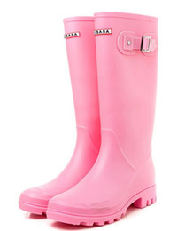 hunter high heel rubber boots UK - 2018 NEW Women RAINBOOTS fashion Knee-high tall rain boots waterproof welly boots Rubber rainboots water shoes rainshoes 87510