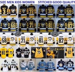 Pittsburgh Penguins Jersey Terceiro 87 Sidney Crosby Evgeni Malkin Phil Kessel Kris Letig Hagelin Lemieux Murray Maatta Guentzel Homem Hóquei