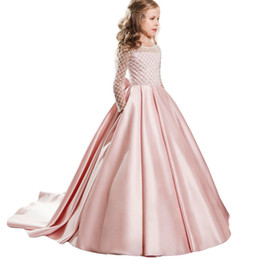 0e8091ab75fd33 Kids Party Dresses For Girls Princess Dress Children Prom Wedding Gown  Flower Girls Dress For Girl Costume 6 7 8 9 10 11 12 Year Y1891309