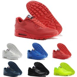 21a28f4d240 Factory Outlet 2017 Original Men  s 90 HYP PRM QS Sneakers Independence Day  Man Casual Running Shoes Zapatillas USA Flag Size 40-46