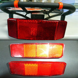 reflective board 2019 - 1Pcs Bicycle Tail Safety Reflective Board Caution Warning Reflect Tail Light Reflectors Rear Panier Light Bicycle Access
